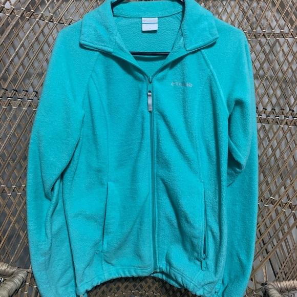 Columbia Womens teal fleece jacket